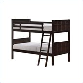 Powell Furniture Summerfield Twin over Twin Bunk Bed in Dark Brown