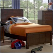 Powell Furniture Summerfield Bed in Dark Walnut