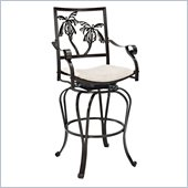 Powell Furniture Big & Tall Palm Tree Barstool with Arms