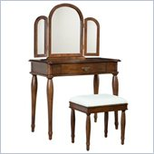 Powell Furniture Dark Hazelnut Vanity