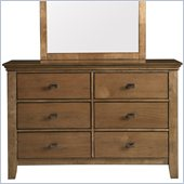 Powell Furniture Northbridge 6-Drawer Dresser in Champagne