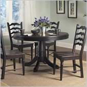 Powell Furniture Seville Round Dining Table in Brown and Black