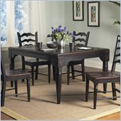 Powell Furniture Seville Rectangle Dining Table in Brown and Black