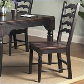 Powell Furniture Seville Side Chair in Brown and Black