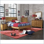 Powell Furniture Northbridge 3 Piece Bedroom Set in Champagne