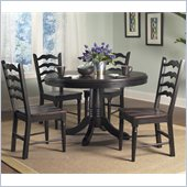 Powell Furniture Seville 5 Piece Dining Set in Brown and Black