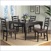 Powell Furniture Seville 5 Piece Dining Set in Brown / Black