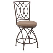 Powell Furniture Big and Tall Crossed Legs 24 Counter Stool in Bronze