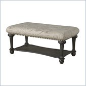 Powell Furniture Medium Calligraphy Bench in Dusty Wax