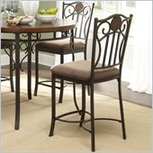 Powell Furniture Abbey Road Counter Height Stool in Bronze
