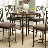 Powell Furniture Abbey Road Counter Height Table in Bronze Finish