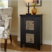 Powell Furniture International 1 Door End Table in Antique Black
