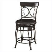 Powell Furniture Big and Tall Back to Back Scroll 24 Counter Stool