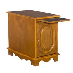 Powell Furniture Nostalgic Oak Magazine Cabinet End Table