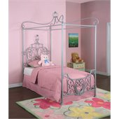 Powell Furniture Princess Rebecca Sparkle Silver Twin Metal Canopy Bed (P01 frame sold separately)