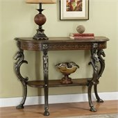 Powell Furniture Masterpiece Mahogany Wild Horses Console Table