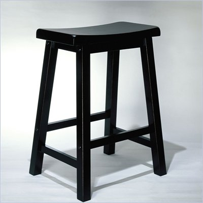 Powell Furniture 24 Inch Antique Black Counter Stool