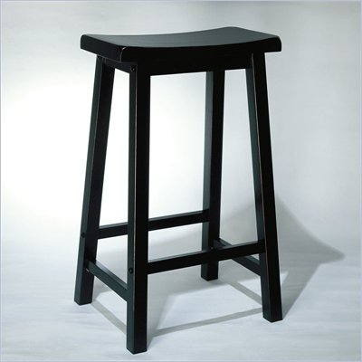 Powell Furniture 29 Inch Antique Black Bar Stool
