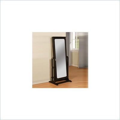 Powell Furniture Antique Black Cheval Mirror Jewelry Wardrobe