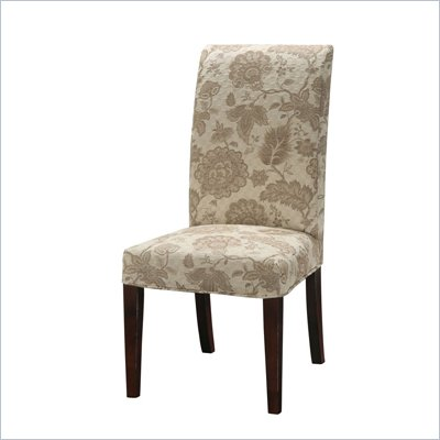 Powell Furniture Woven Gold with Taupe Floral Pattern Slip Over