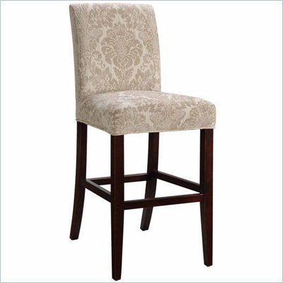Powell Fleur-de-lis Tone-on-Tone Slip Over for Counter &amp; Bar Stools