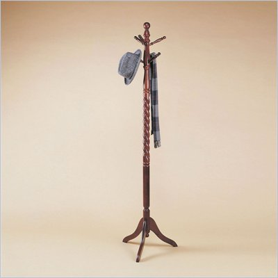 Powell Furniture Heirloom Cherry Twist Standing Coat Rack