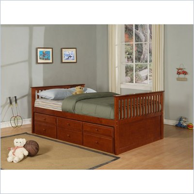 Powell Furniture Jake Full Bed or Lower Full Bunk Bed  in Burnished Pine
