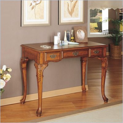 Powell Furniture Jamestown Landing Wood Makeup Vanity Table with Mirror