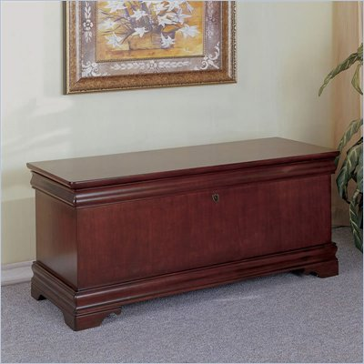 Powell Furniture Louis Philippe Cedar Blanket Chest in Marquis Cherry Finish