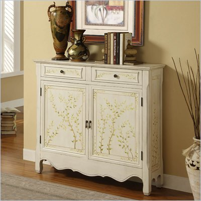 Powell Furniture Hand Painted 2-Door Console in White