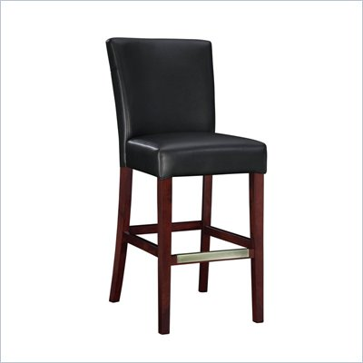 Powell Furniture Black Bonded Leather Bar Stool