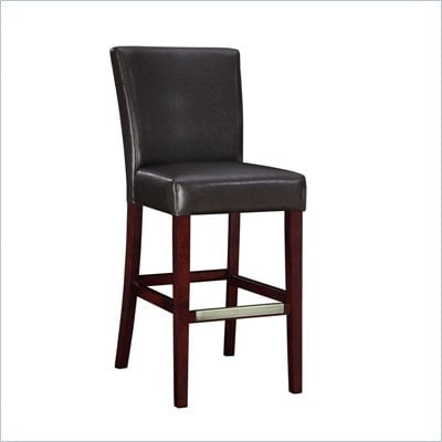 Powell Furniture Brown Bonded Leather Bar Stool