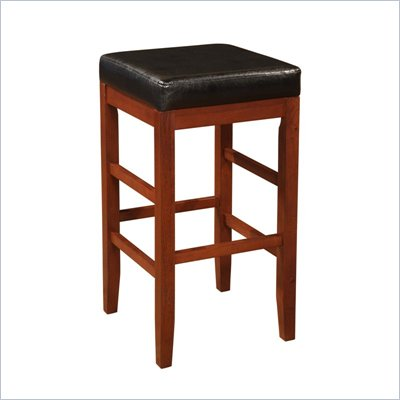 Powell Furniture Cherry Square Backless Bar Stool