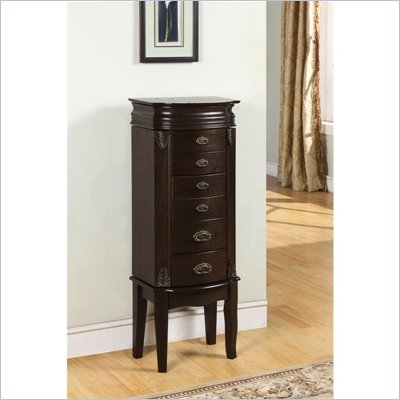 Powell Furniture Italian Influenced Transitional &quot;Espresso&quot; Jewelry Armoire