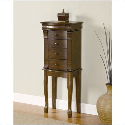Powell Furniture Louis Philippe Walnut Jewelry Armoire