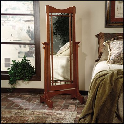 Powell Furniture Mission Oak Cheval Mirror