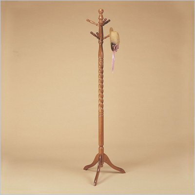 Powell Furniture Nostalgic Oak Twist Standing Coat Rack