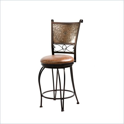 Powell Furniture Bronze with Muted Copper Stamped Back Counter Stool