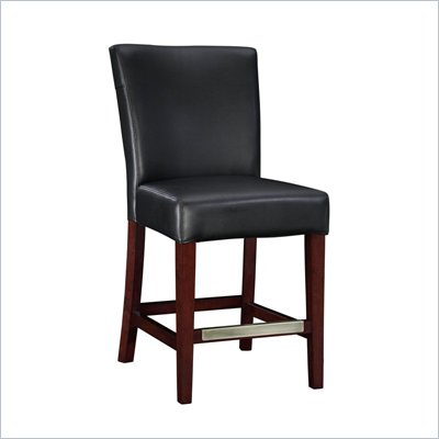 Powell Furniture Black Bonded Leather Counter Stool
