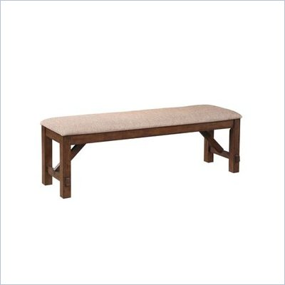 Powell Furniture Kraven Dining Bench in Dark Hazelnut