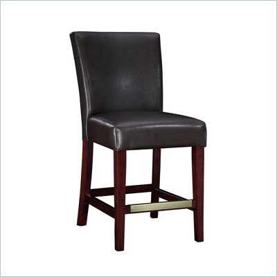 Powell Furniture Brown Bonded Leather Counter Stool