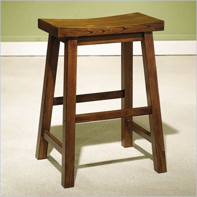 "Powell Furniture Honey Brown Counter Stool with 24"" Seat"