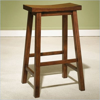 "Powell Furniture Honey Brown Bar Stool with 29"" Seat"
