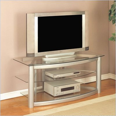 Powell Furniture Modern Silver LCD/Plasma TV Stand