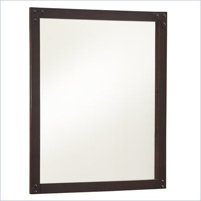 Powell Furniture Summerfield Mirror in Dark Walnut