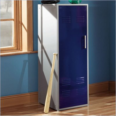 Powell Furniture Teen Trends Navy Blue Home Storage Kids Locker Coat Rack