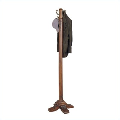 Powell Furniture Woodbury Mahogany Standing Coat Rack