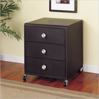 Powell Furniture Z-Bedroom Mobile 3 Drawer Nightstand