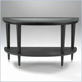 Klaussner Furniture Ontario Sofa Table with Glass Insert