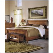 Klaussner Furniture Urban Craftsman Sleigh Bed in Amber Stained Finish